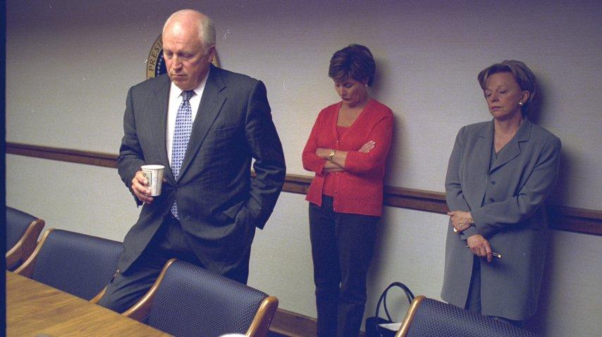 Cheney, la primera dama Laura Bush y Lynne Cheney<br>