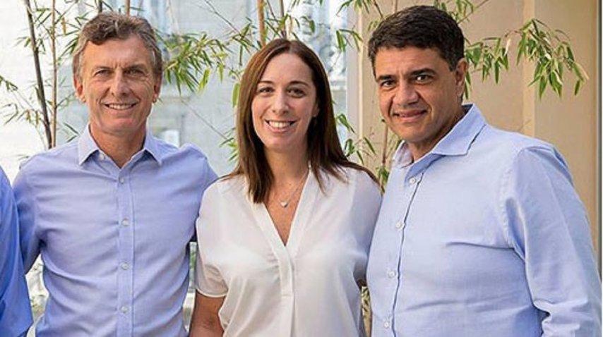 Jorge Macri, junto a Mauricio y María Eugenia Vidal