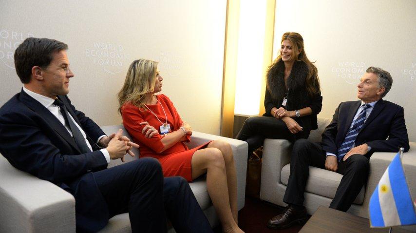 Mauricio Macri y la Reina Máxima de Holanda se encontraron en Davos