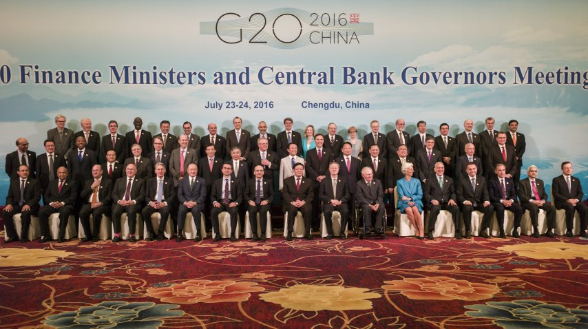 Una reunión del G20 de 2016