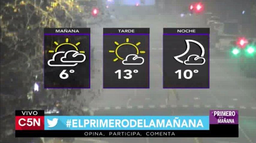 Jueves con cielo algo nublado y 6° de máxima en Bariloche