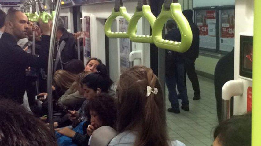 Formación detenida en la estación Río de Janeiro