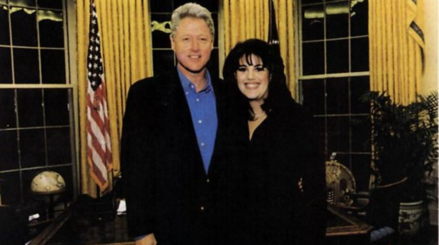 Bill Clinton y Monica Lewinsky (Foto de 1997)