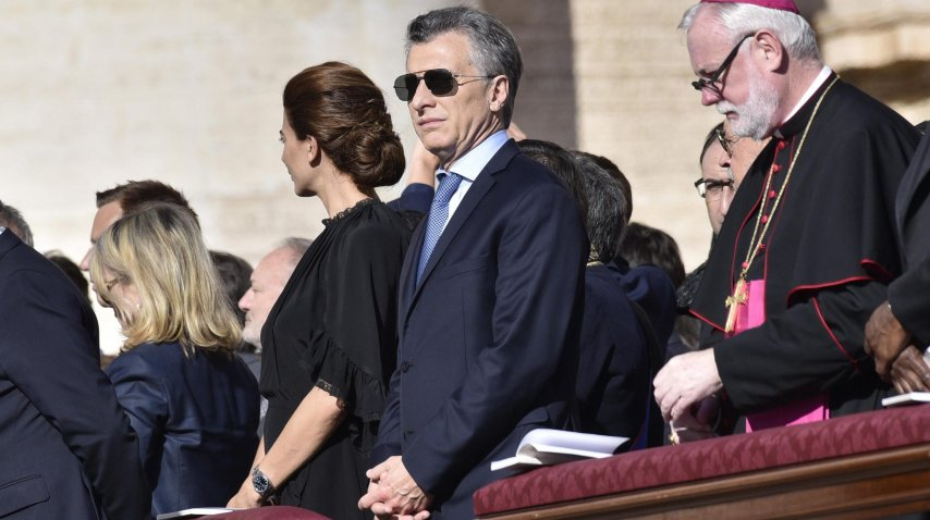 Mauricio Macri presenció la canonización del cura Brochero en el Vaticano.<br>