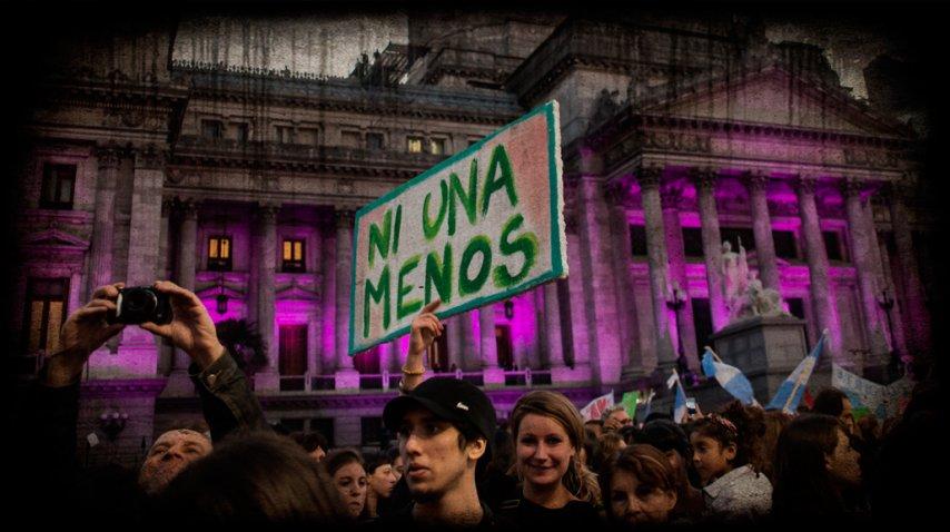 #NiUnaMenos, la primera marcha se realizó el 3 de junio del 2015.<br>
