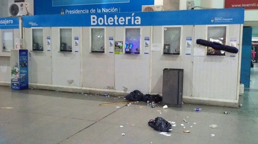Estación Once Tren Sarmiento. Imagen de Twitter.