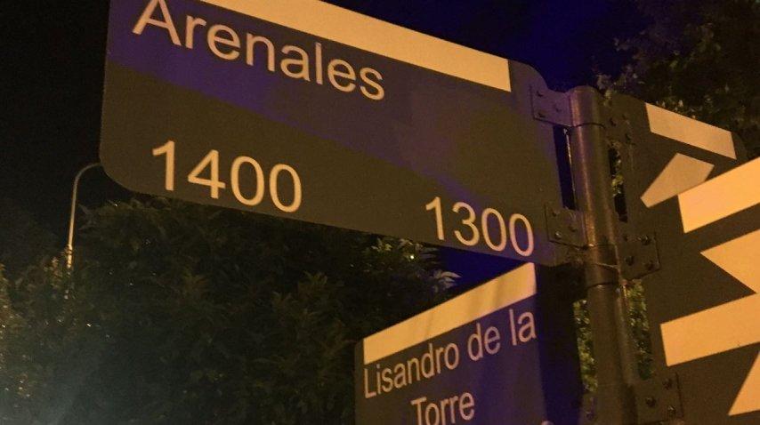 Arenales y Lisandro de la Torre es la esquina de las calles donde se produjo el asesinato del presidente de Sigmar