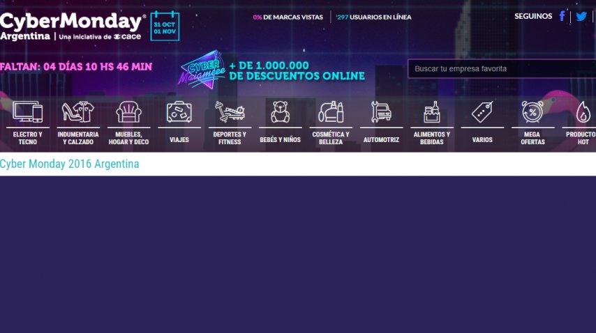 La Web de CyberMonday fue visitada por al menos 1,8 millones de personas en el primer día de ofertas