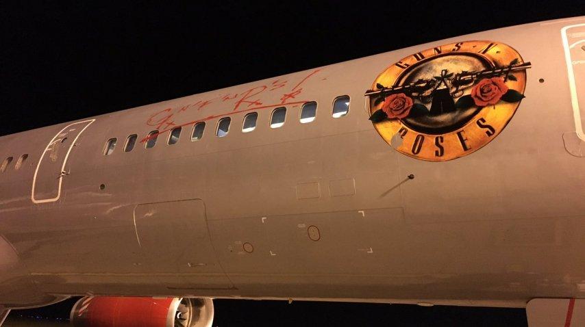 Avión de los Guns N' Roses en Rosario