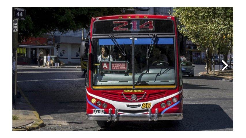 La 214, una de las líneas involucradas en el paro de colectivos de La Plata