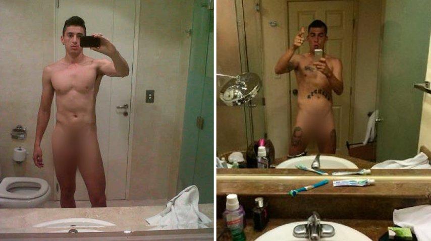Ivan Bella y Juan Manuel Trejo, desnudos.<br>