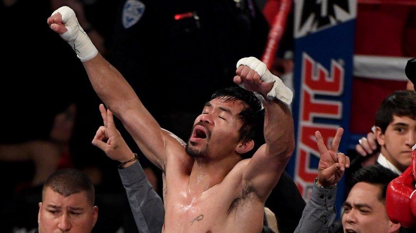 Pacquiao se quedó con el título mundial de peso Welter de la OMB