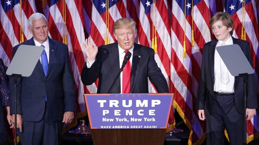 Trump es el presidente número 45 de Estados Unidos<br>