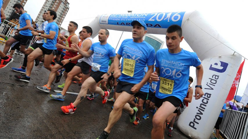 La maraton se realizó el domingo en Tigre<br>