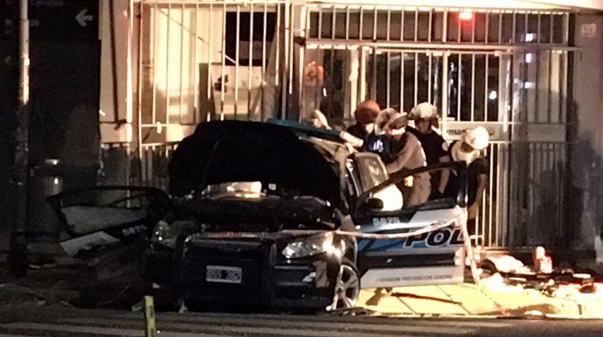 Chocaron un patrullero y un colectivo: murió un policía