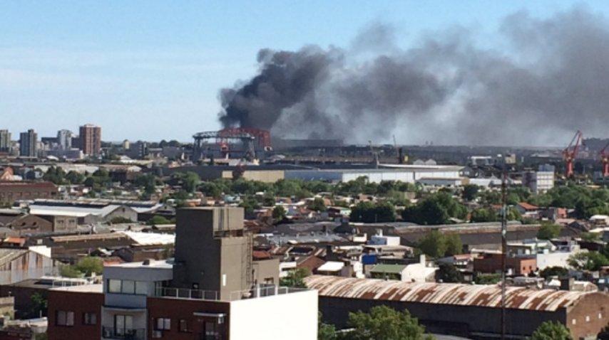 Incendio en La Boca<br>