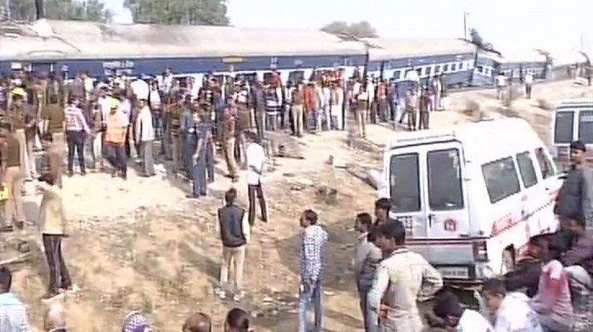 <p>Un tren descarriló en India, hay al menos 60 muertos - Crédito: @ANINewsUP </p><p></p><p></p>