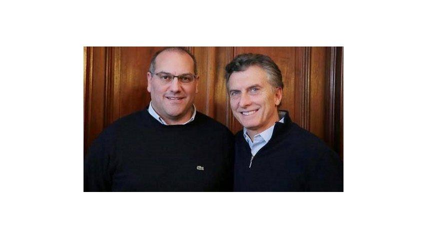 El diputado Gustavo Roma junto al presidente Mauricio Macri<br>