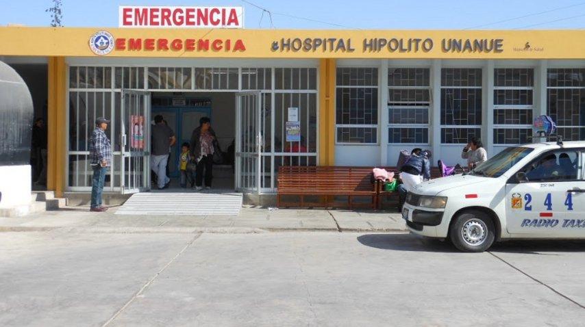 Fachada del Hospital Hipólito Unanue de la ciudad peruana de Tacna