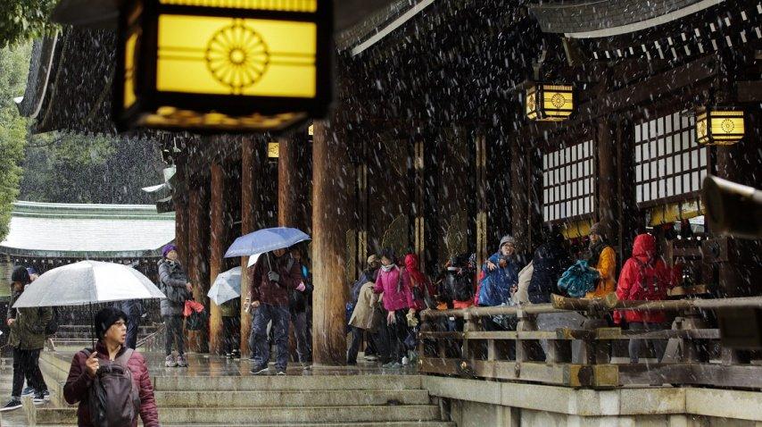 <p>Nevó en Tokio luego de 54 años</p><p></p>