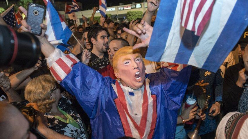 Festejos en Miami por la muerte de Fidel Castro