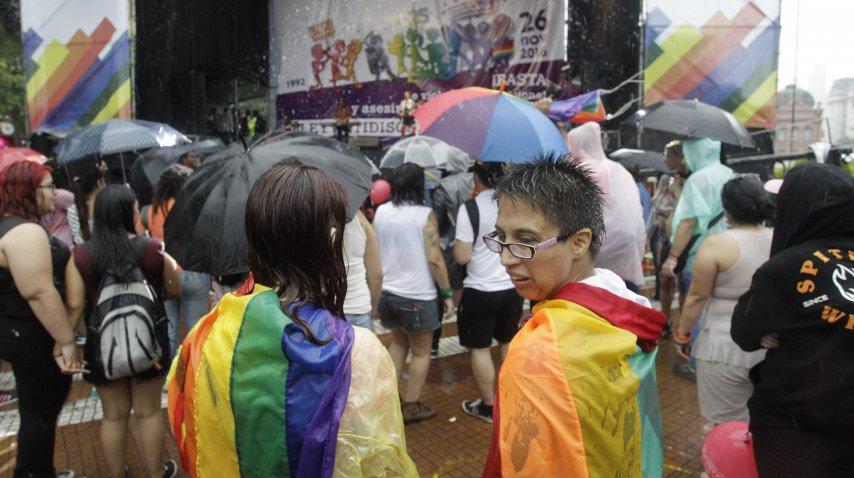 Así se celebra la XXV Marcha del orgullo gay en Buenos Aires.<br>