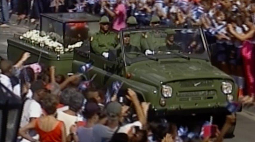 Los cubanos despiden a Castro<br>