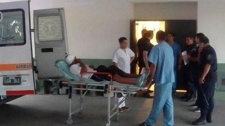 Así trasladaban a Franco Quiroz que fue herido por un balazo de goma