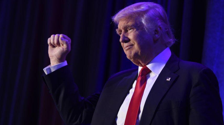 <p>Donald Trump celebra la victoria ante Hillary Clinton</p>