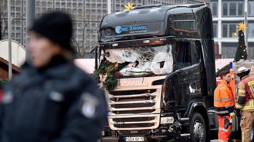 Así quedó el camión del atentado en Berlín<br>