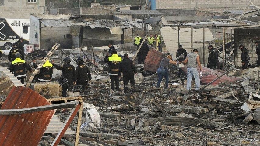 Así quedó el mercado de pirotecnia San Pablito tras la explosión