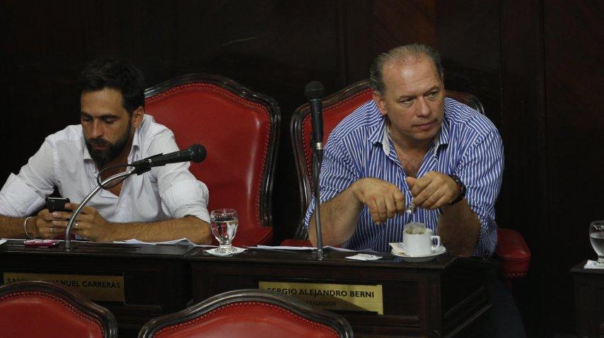 Santiago Carreras y Sergio Berni, senadores del Frente para la Victoria