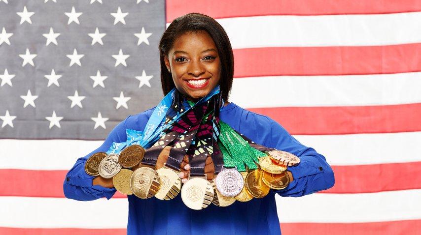 Simone Biles ganó cinco medallas en Río 2016<br>