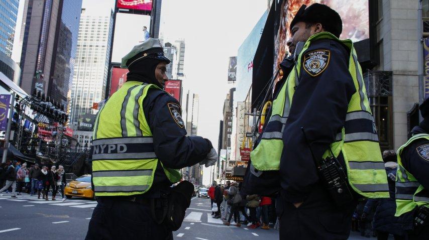 En Nueva York comenzaron los preparativos para recibir el año nuevo<br>