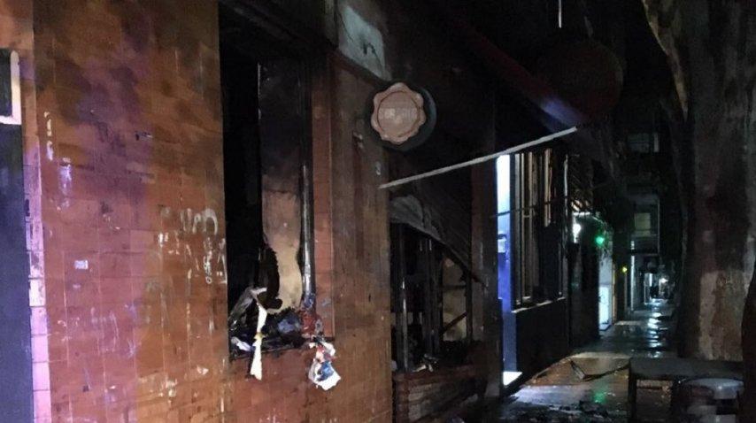 <p>Incendio en un minimercado de Villa Crespo</p><p></p>