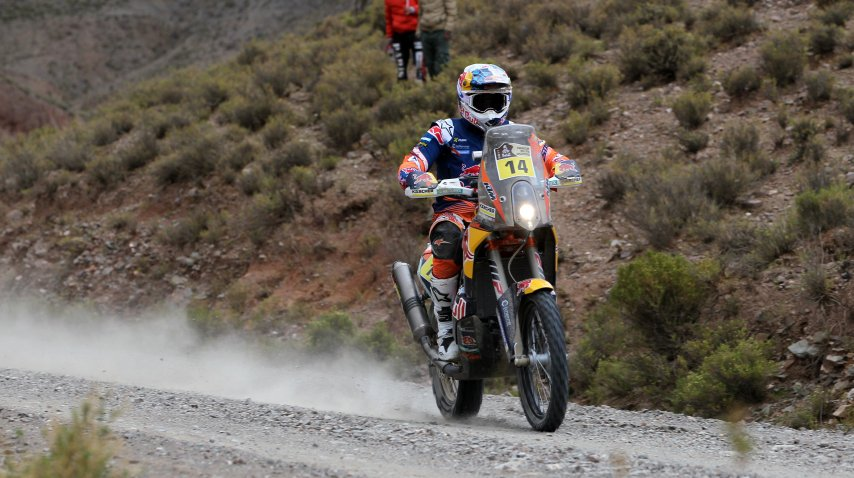 Sam Sunderland fue tercero este lunes en la séptima  etapa del Dakar