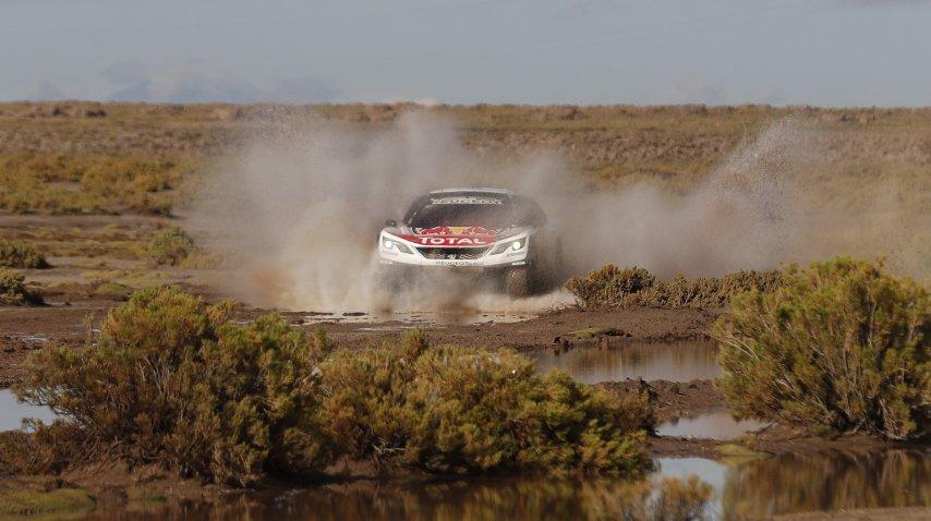 Loeb quedó primero tras las primeras 8 etapas<br>