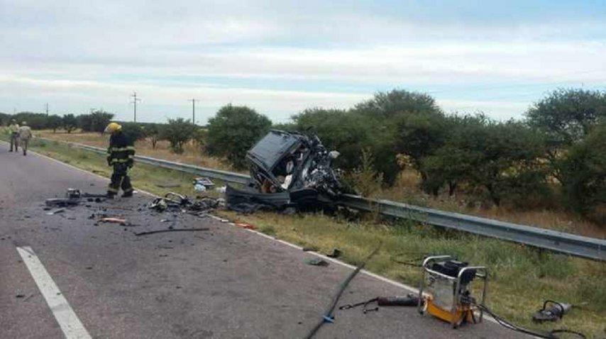 Cuatro muertos en La Pampa por un choque  - Crédito: La Arena