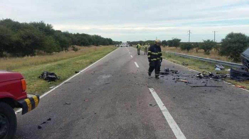 <p>Cuatro muertos en La Pampa por un choque  - Crédito: La Arena</p><p></p>