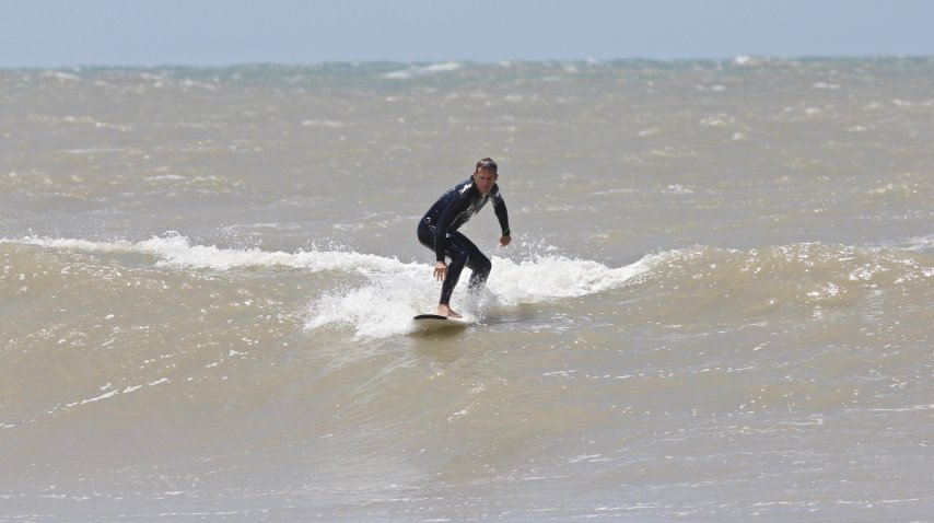 Orsanic arriba de una ola<br>