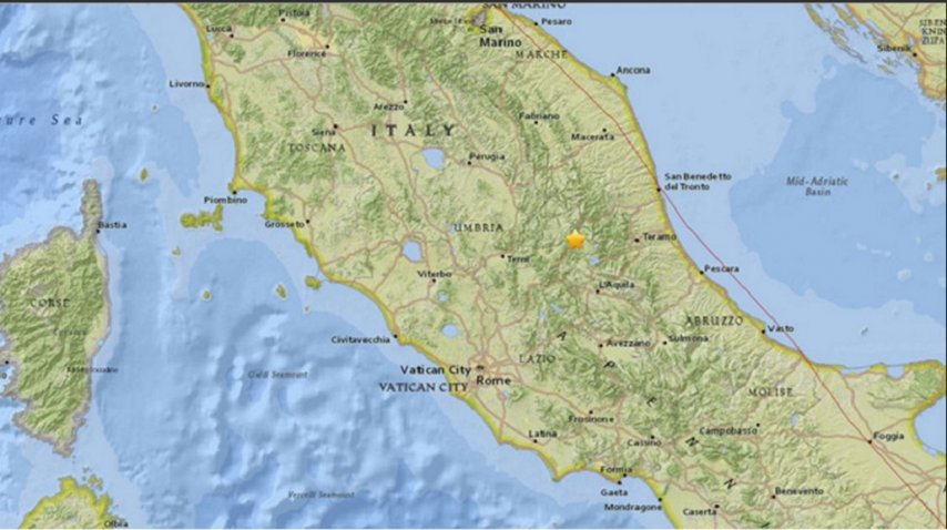 Un sismo de 5.3 grados sacudió Italia y se sintió en Roma<br>