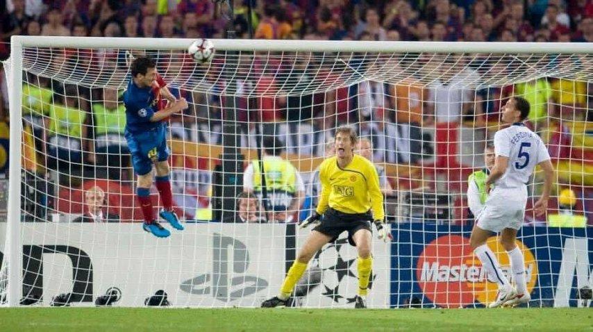 El gran salto de Messi para marcar el segundo del Barcelona<br>