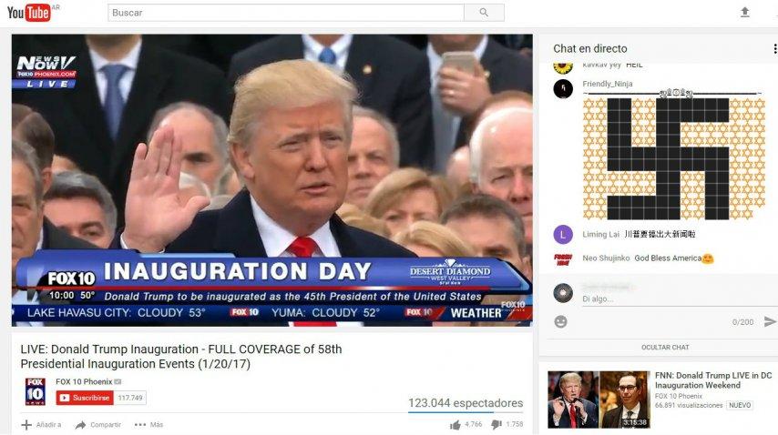 Trump asumió como presidente<br>