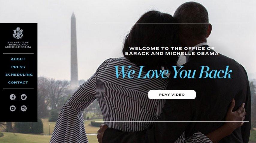 El sitio oficial de Barack Obama<br>