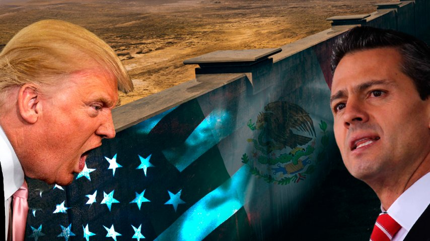 Trump presiona a México por el muro<br>