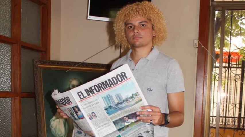 Carlos Valderrrama Ruge, hijo de El Pibe