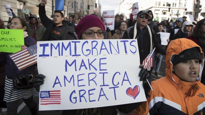 La protesta en Washington DC, EEUU<br>