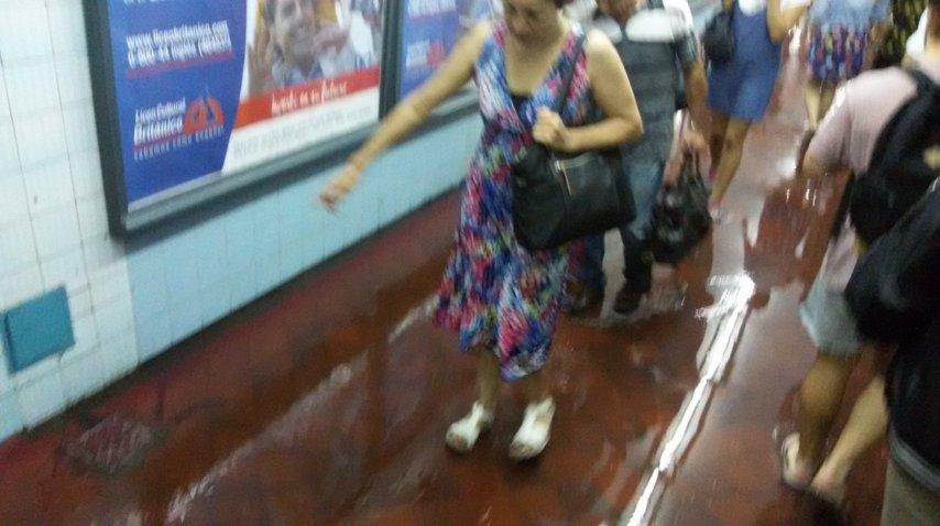 Inundación Subte