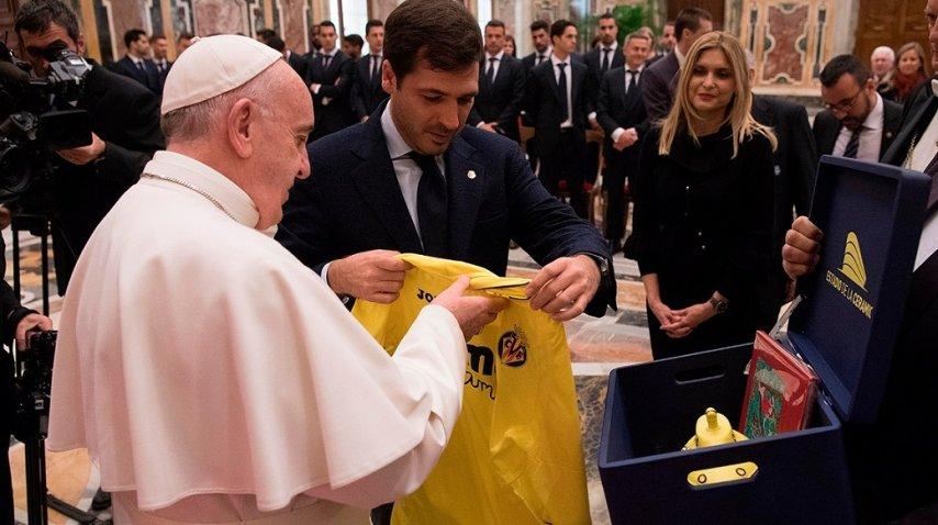 El papa Francisco se reunió con Villareal de España - Crédito: Facebook Villareal FC