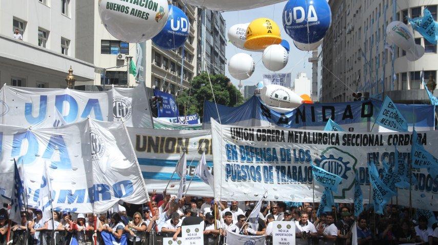 La UDA, presente en la marcha de la CGT<br>
